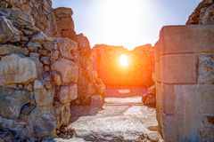 Ruins of Masada Stock Images