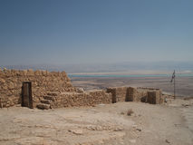Ruins in Masada and the dead sea Royalty Free Stock Images