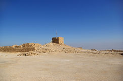 Ruins of Masada fortress Royalty Free Stock Photo