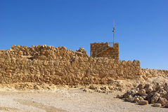 Ruins of Masada fortress Royalty Free Stock Image