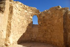 Ruins of Masada fortress Royalty Free Stock Photography