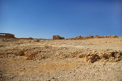 Ruins of Masada fortress Stock Images