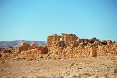 Ruins of Masada Fortress Stock Image