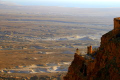 Ruins of Masada fortress (Isreael) Stock Photo
