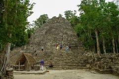 Ruins of mayan Pyramid in Coba. Mexico. Stock Photography