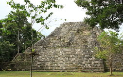 Ruins of Mayan temple at Yaxha, Guatemala Royalty Free Stock Photography