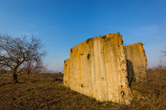 Ruins on meadow Royalty Free Stock Photography