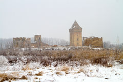 Ruins of medieva Bac fortress in Serbia province Vojvodina Royalty Free Stock Photography