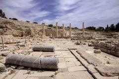 Ruins of a medieval Amathus, north of Lemessos, Cyprus Stock Photos