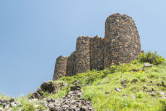 Ruins of the medieval Amberd castle Stock Images