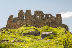 Ruins of the medieval Amberd castle Royalty Free Stock Photos