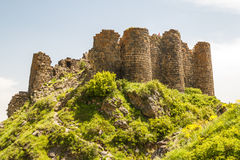 Ruins of the medieval Amberd castle Royalty Free Stock Images