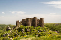 Ruins of the medieval Amberd castle Royalty Free Stock Image