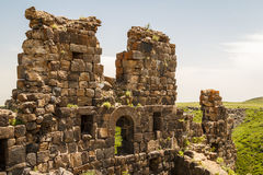 Ruins of the medieval Amberd castle Stock Photos