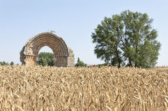 Ruins of a medieval arch Stock Photography