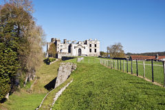 Ruins of medieval Bidache Castle in Basque country Stock Photography