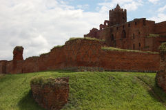 Ruins of a medieval castle. In Poland Stock Photography