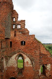 Ruins of a medieval castle. In Poland Stock Photo