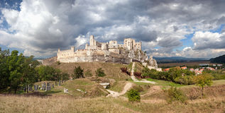 The ruins of the medieval castle Beckov Stock Image