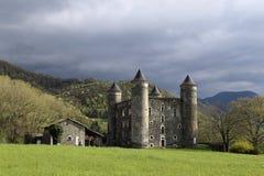 The ruins of a medieval castle. Chateau de Bon Repos Stock Image
