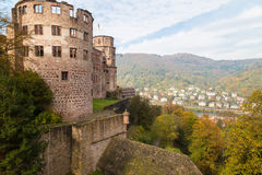 Ruins of medieval castle -  Heidelberg. Germany Royalty Free Stock Images