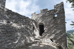 Ruins of a medieval castle in Italy, Royalty Free Stock Image