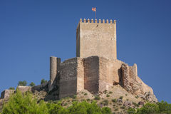 Ruins of the medieval castle of Lorca Royalty Free Stock Photo