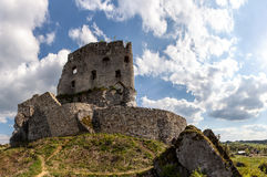The ruins of a medieval castle. Stock Photography