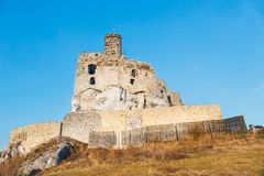 Medieval castle in Mirow, Poland Stock Images