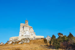 Ruins of medieval castle Mirow in Poland Stock Photography