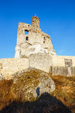 Ruins of medieval castle Mirow in Poland Royalty Free Stock Photos