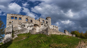 The ruins of a medieval castle. Royalty Free Stock Photos