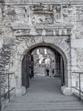 Ruins of medieval castle Ogrodzieniec - the gate Royalty Free Stock Photography