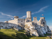 Ruins of medieval castle Ogrodzieniec Stock Image