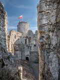 Ruins of medieval castle Ogrodzieniec Stock Photo