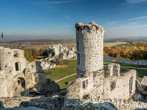 Ruins of medieval castle Ogrodzieniec Stock Images