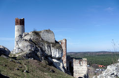 Ruins of medieval castle in polish Jura. Stock Photography