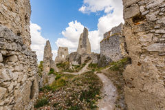 Ruins of medieval castle royalty free stock image