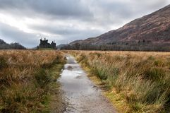 Ruins of medieval castle in Scotland Stock Images