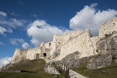 Ruins of the medieval castle stock images