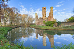 Ruins of medieval castle ter Elst, Duffel Stock Photo