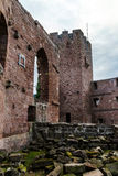 Ruins of medieval castle Wangenbourg on the top of hill, Alsace, Stock Photos