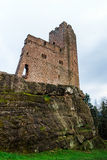Ruins of medieval castle Wangenbourg on the top of hill, Alsace, Royalty Free Stock Image