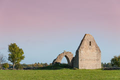 Ruins of a medieval chapel Stock Photography