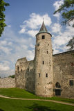 Ruins of the medieval episcopal castle of Haapsalu Royalty Free Stock Photo