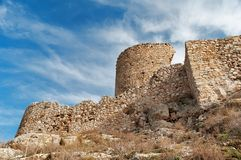The ruins of a medieval fortress Royalty Free Stock Photos