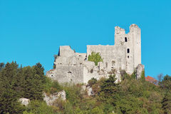 Ruins of a medieval fortress Royalty Free Stock Photo