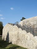 Ruins of medieval fortress in Drobeta Turnu Severin Stock Photos