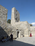 Ruins of medieval fortress in Drobeta Turnu Severin Royalty Free Stock Photo