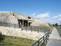 Ruins of medieval fortress in Drobeta Turnu Severin Stock Photography